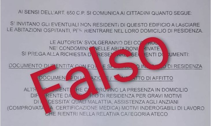 Fake news seconde case volantino