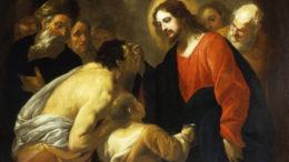 Miracolo del cieco nato, Cristo ridà la vista al cieco, dipinto. 3 dia 10x12 (C01.32.01-02-03), dia 6x6 (B01.09.12), stampa A4 getto d'inchiostro (G02.11.02), carige