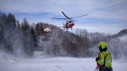 Vigili del Fuoco Pompieri elicottero neve