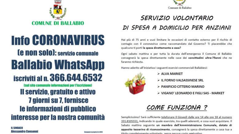 Whatapp comunale e spesa anziani coronavirus 2020