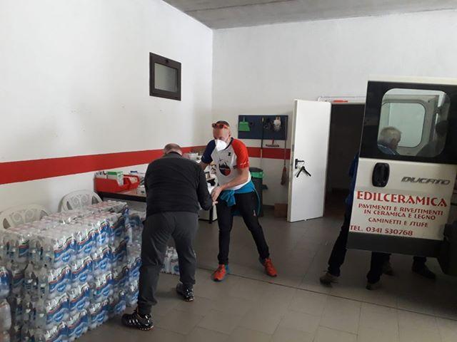 ASD GRIGNETTA donazione acqua Balisio 1