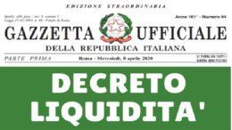 DECRTETO-LIQUIDITA-GAZZETTA-UFFICIALE 1