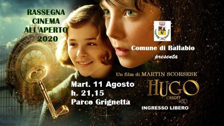 Hugo Cabret 1 cinema aperto Grignetta 2020