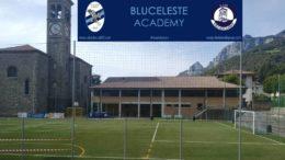 Campo con logo Bluceleste Academy