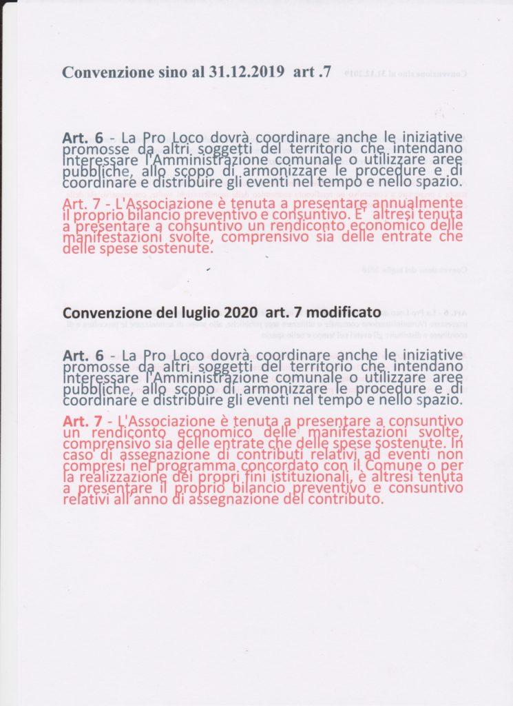 STRALCIO ART. 7 convenzione sino al dicembre 2019 e modifica del luglio 2020