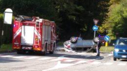 ribaltamento SP62 Laorca Ponte della Gallina