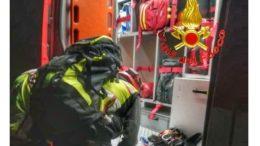 vigili del fuoco saf con mezzo