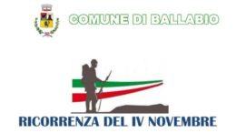 Logo locandina IV Novembre 2020