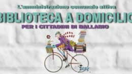 Logo volantino bilioteca a domicilio 2020