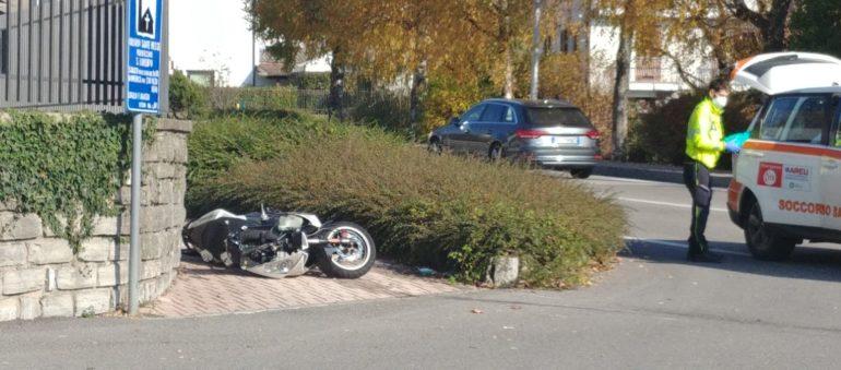 Scontro auto moto Ballabio 11nov20 (5)