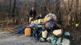Foto rifiuti strada vicino Ballabio 2021 1