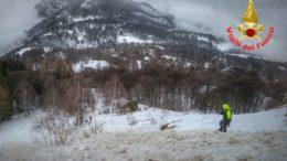 Valanga grignetta 1feb21 Vigili del fuoco Pompieri Saf Cnsas Soccorso alpino (2)