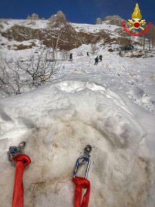 Vigili del fuoco Saf Pompieri esercitazione Resinelli Neve Ghiaccio (4)